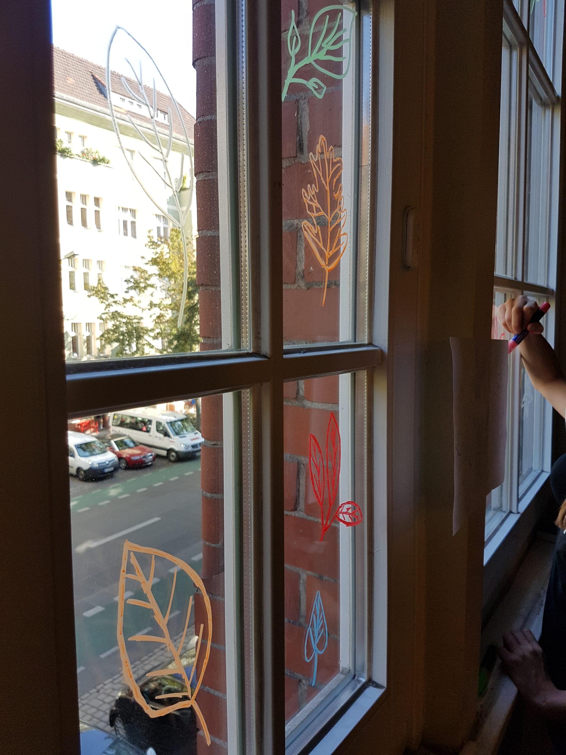 Kunst Fenstermalerei 1