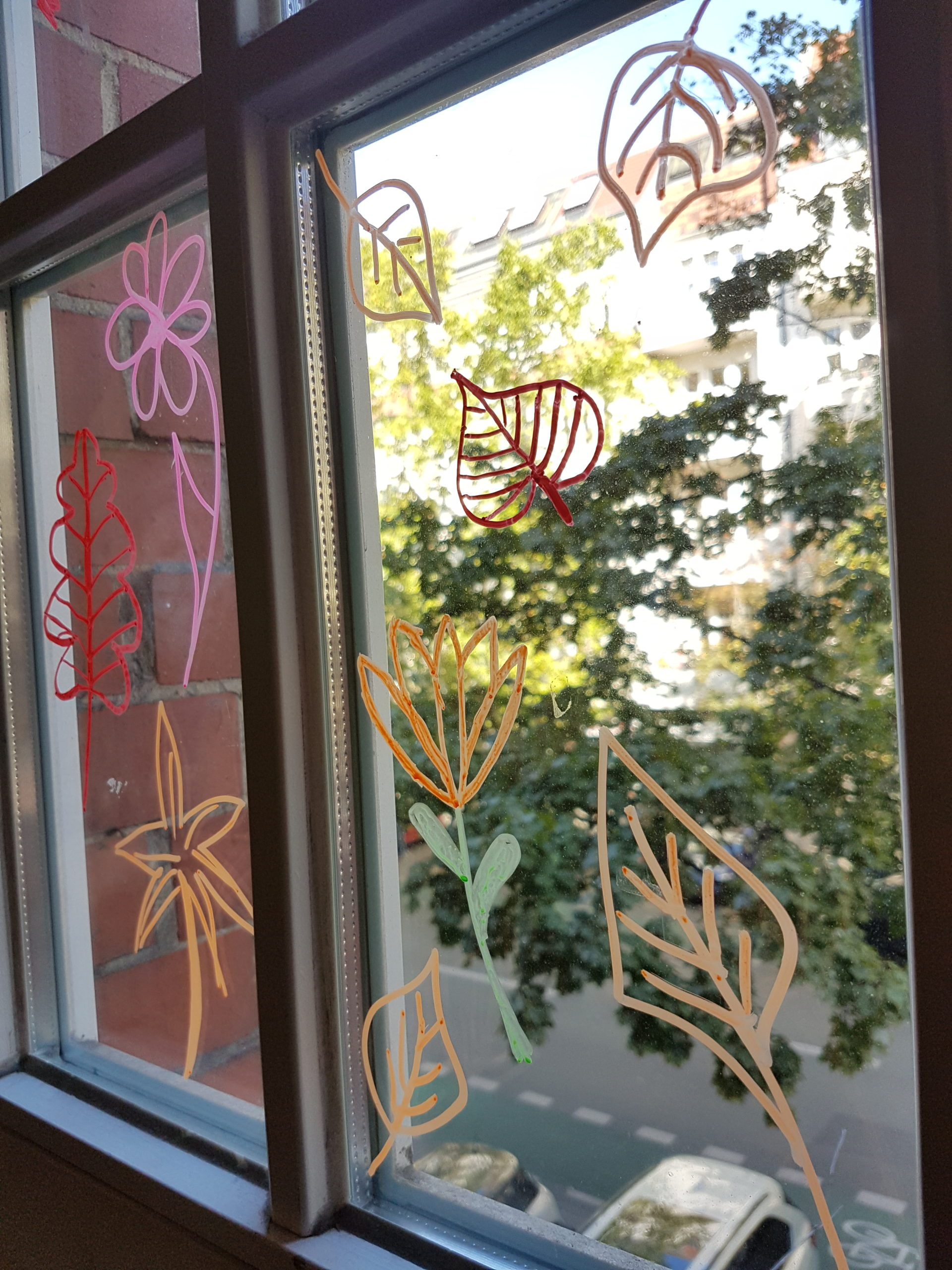 Kunst Fenstermalerei 3